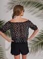Morhipo Beach Yıldız Desenli Bluz Siyah
